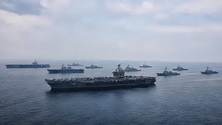 USS Carl Vinson & USS Ronald Reagan Carrier Strike Groups