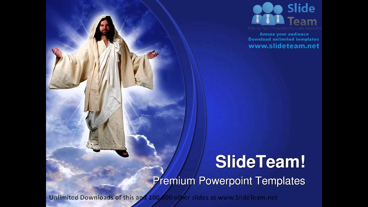 Jesus Christ Religion Powerpoint Templates Themes And Backgrounds