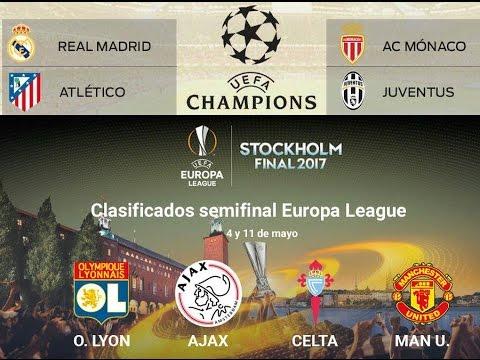 Asi se jugarán las Semifinales de Champions League y de Europa League 2017