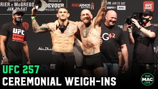 UFC 257: Conor McGregor vs. Dustin Poirier Ceremonial Weigh-Ins