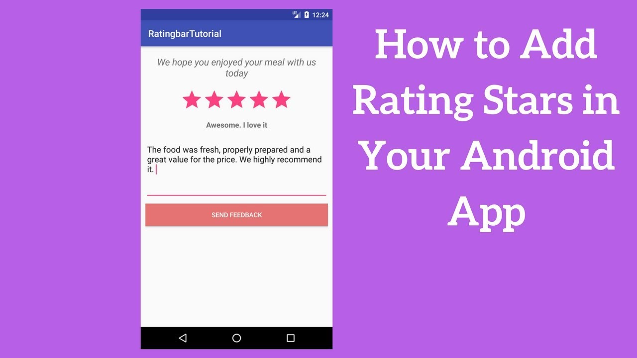 Android Ratingbar Example - Adding Rating Stars in Your App - Coding