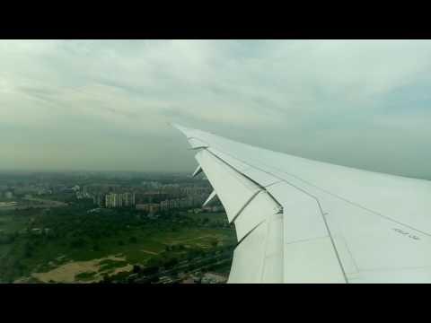 JAL デリー空港インディラガンディー空港着陸