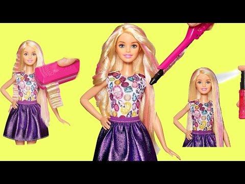Кукла Барби! Кудри за 15 сек. Crimp and Curl Прически Куклам! Видео для Девочек. Игрушки для Девочек