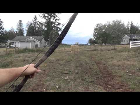 Shooting a 74 Pound Istvan Toth Magyar Horsebow from Seven Meadows Archery