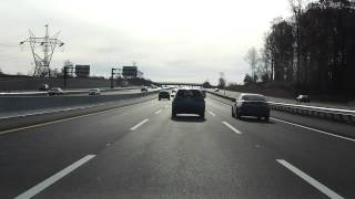 new jersey turnpike exits 7a to 6 southbound car lanes