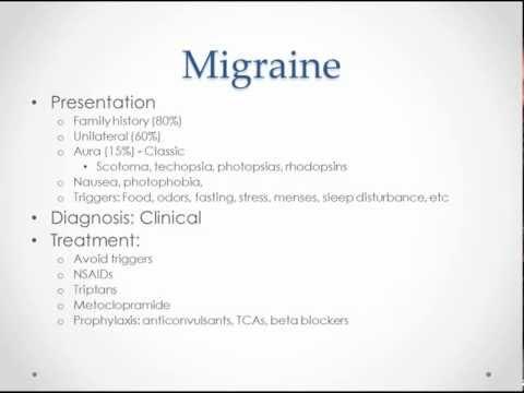 Headache - USMLE Step 2 Review
