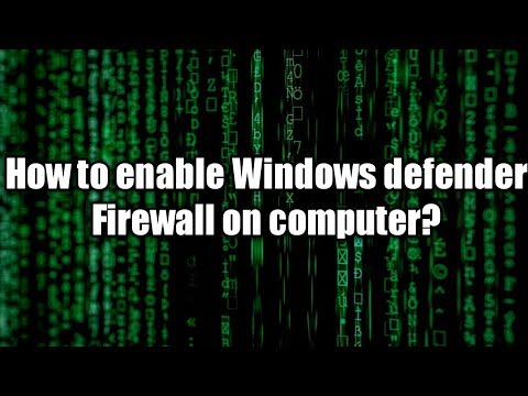 How To Enable Or Disable Windows Defender Firewall On Windows Computer.