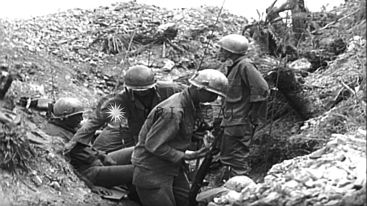 United States 7th Infantry Division Soldiers In Trench