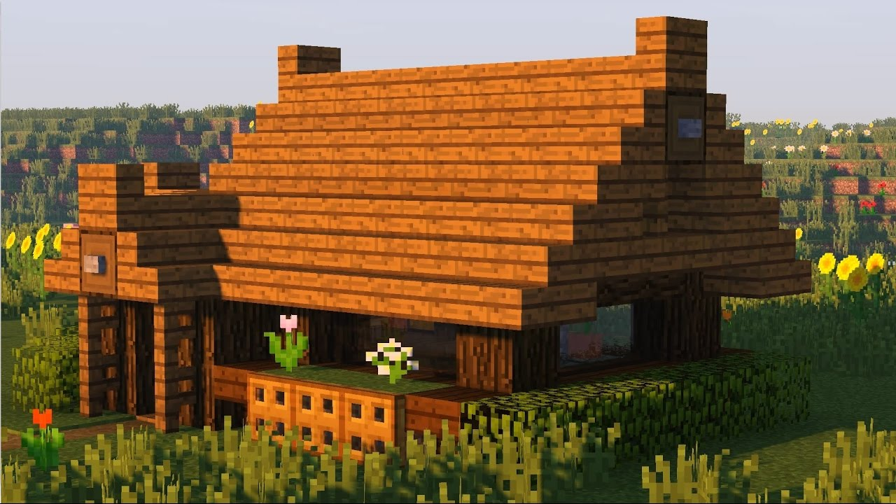 красивый домик в майнкрафт димас скрынник шаговой доступности