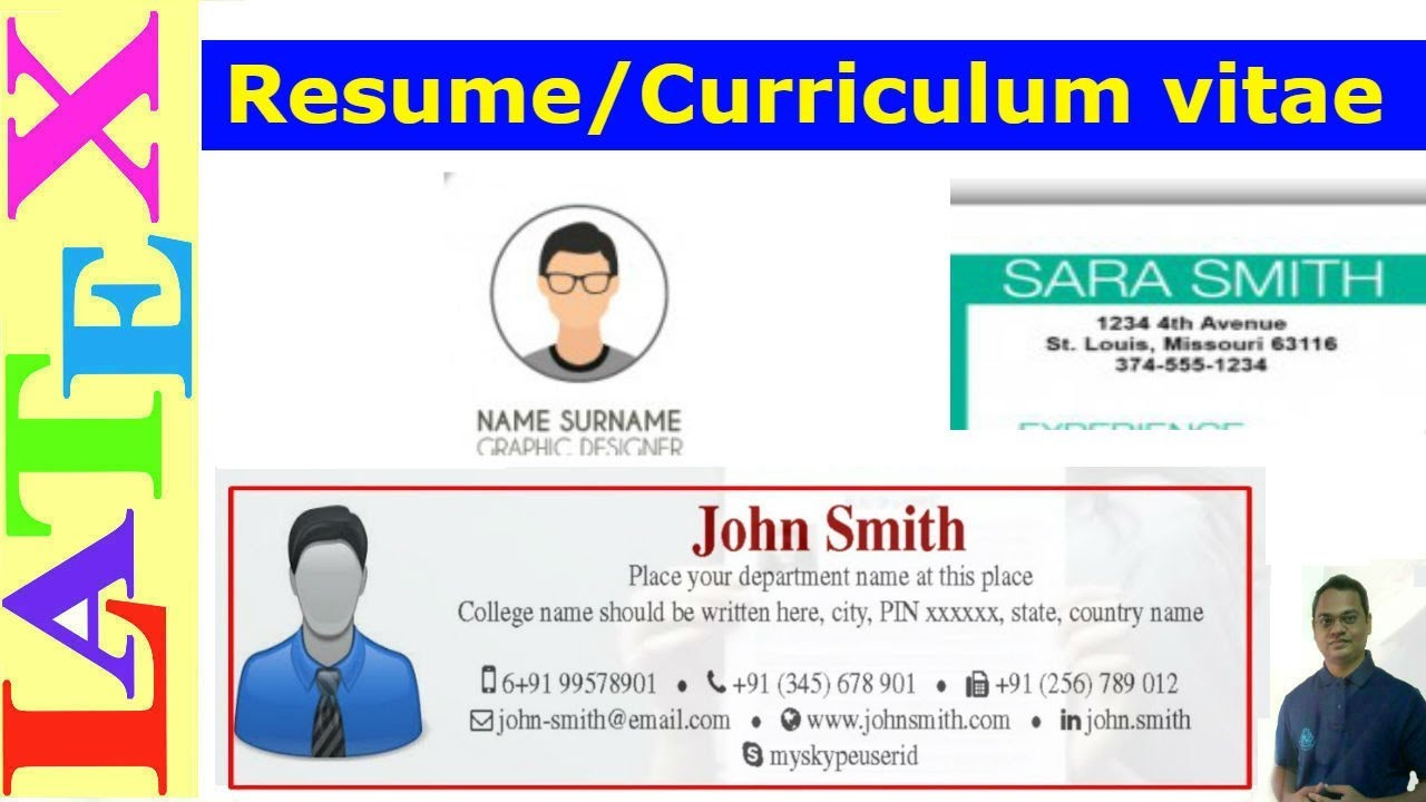 How To Prepare A Resume/Curriculum Vitae (CV) In LaTeX (Latex Tutorial,  Episode   27)  Latex Resume Tutorial