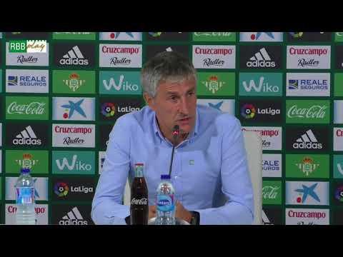 Rueda de prensa de Quique Setién tras el partido contra el Valencia CF