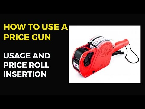 How to Use a Price Gun | How to Insert Price Roll in Price Labeller