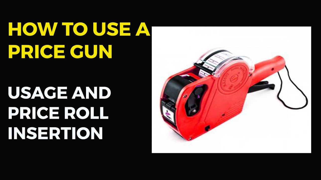 0131465aae6b How to Use a Price Gun   How to Insert Price Roll in Price Labeller