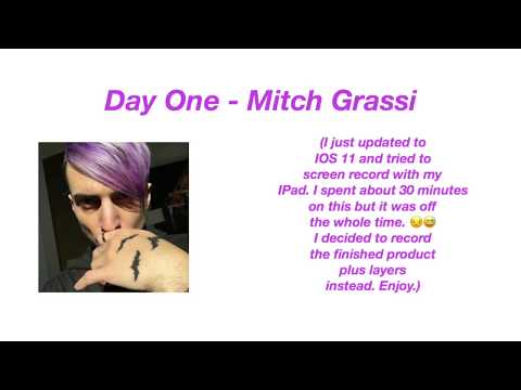 Mitch Grassi Outline with Purple Hair | doodleaday | day one