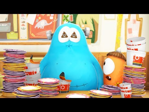 Funny Animated Cartoon | Spookiz Too Much Food Equals Toilet Time 스푸키즈 | Cartoons for Children