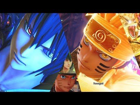 Jump Force - Six Paths Naruto & Sasuke Combos, Supers, & Ultimate Attacks (HD)