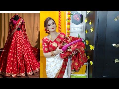 OMG 🥰 Beautiful Red Lehenga For Karwachauth \u0026 Diwali / #JoshIndia /  SWATI BHAMBRA