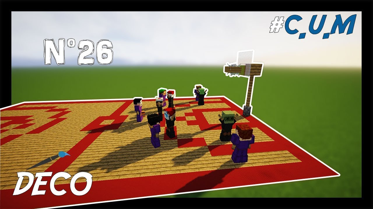 Comment Fabriquer Un Terrain De Basket minecraft - how to make a basketball ground! # 26