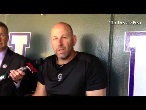 Walt Weiss talks about his final, best memory of Todd Helton on the day of 17's retirement. #Rockies
