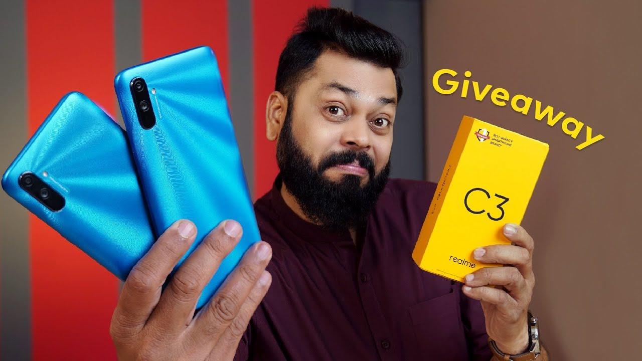 Realme C3 Unboxing e primeiras impressões ⚡⚡⚡ Smartphone com orçamento poderoso (GIVEAWAY) + vídeo