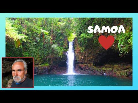 SAMOA, the spectacular Afu Aau waterfall in the island of SAVAI