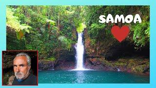 SAMOA, EXPLORING the spectacular AFU AAU WATERFALL, island of SAVAI