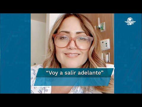 Andrea Legarreta combate el coronavirus y una neumonía