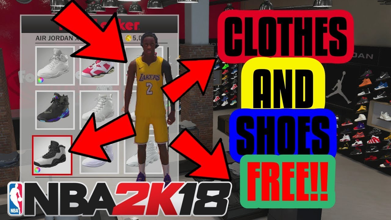 NBA 2K18 FREE CLOTHES / SHOES GLITCH! | HOW TO GET ALL CLOTHES AND SHOES  FREE! | PS4 AND XBOX
