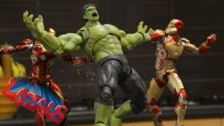 IRONMAN STOP MOTION Part 6 Trailer with Superheros SPIDERMAN, HULK & HULKBUSTER