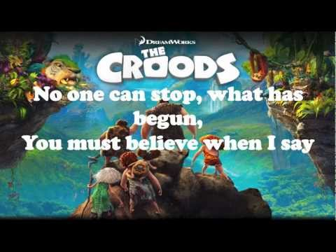 Shine Your Way - Owl City & Yuna LYRICS (THE CROODS)