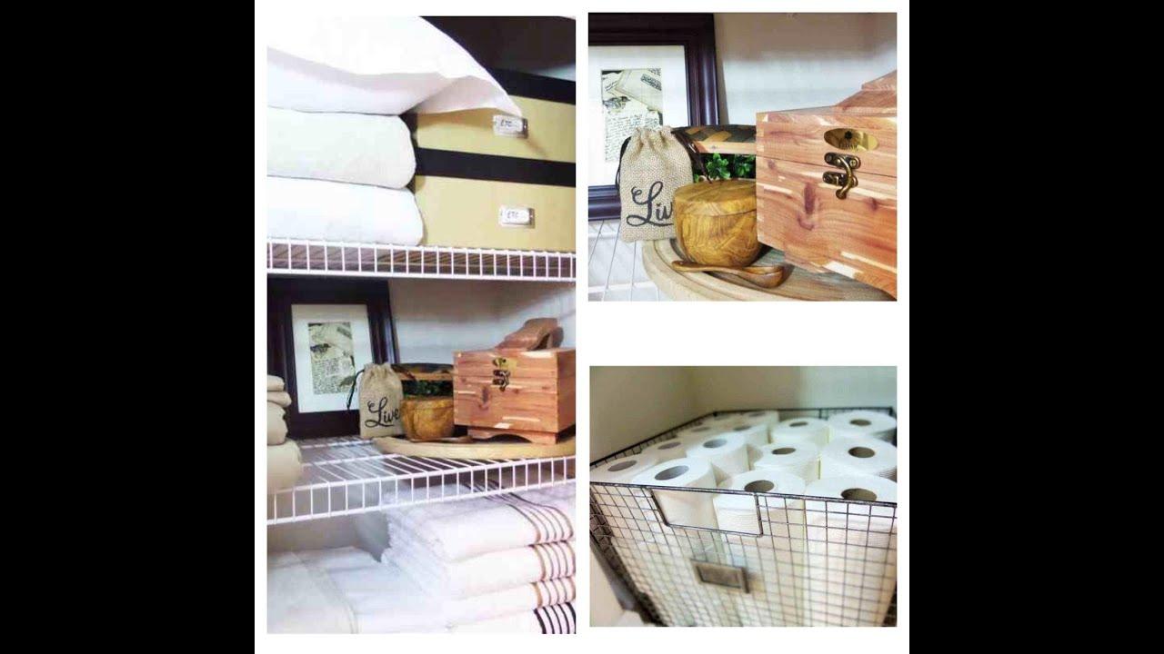 Linen Closet Organization Ideas   YouTube