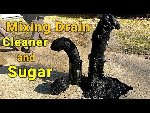Mixing Drain Cleaner and Sugar Experiment