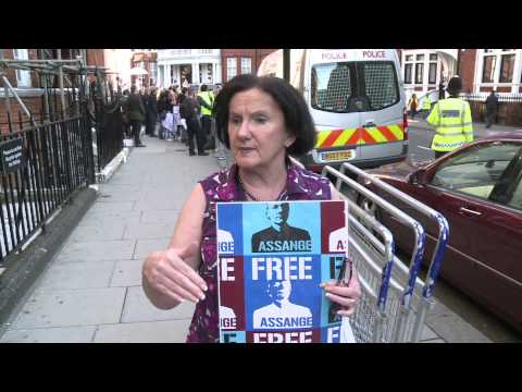 Assange in the embassy one year on