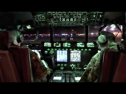 Super Hercules Takeoff At Night • Cockpit Video