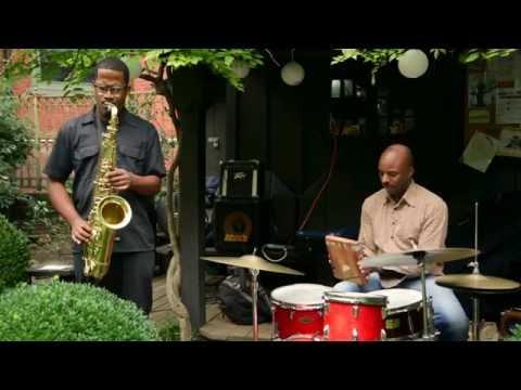 James Brandon Lewis & Chad Taylor - at 6BC Gardens - Arts for Art, NYC - October 2 2016