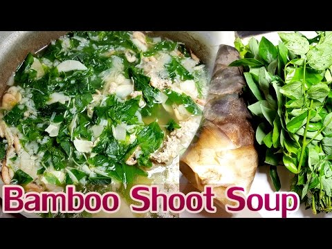 Easy Asian Khmer  Cooking food recipe, Bamboo Shoot Soup