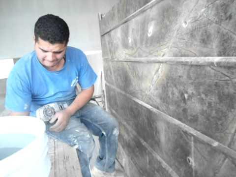 Perforando fuente de m rmol youtube for Marmol travertino sin pulir