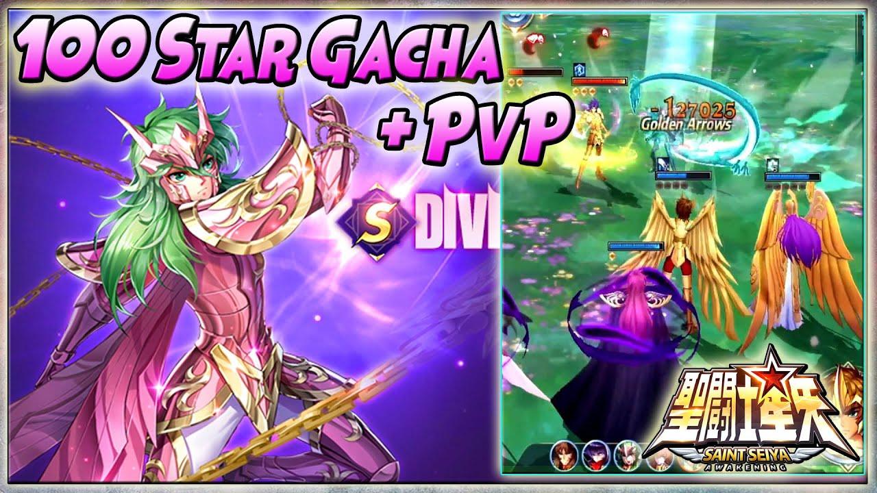 100 STAR GACHA GC.SHUN + Cupu2in GC.SHIRYU & HYPNOS di PVP - Saint Seiya: Awakening