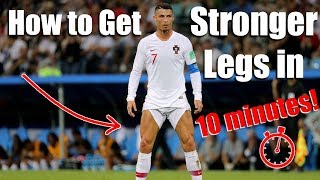 How to Get Stronger Legs in 10 Minutes! | Body weight lower body workout for soccer players