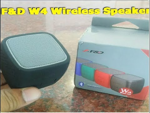 Budget Bluetooth Speaker (F&D W4 SUPER MINI) Unboxing & Testing