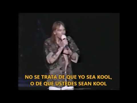 Lo que decía Axl Rose en sus conciertos y Welcome To The Jungle