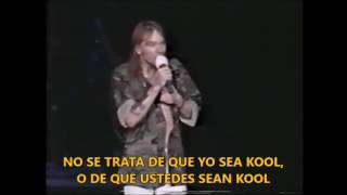 Lo que decía Axl Rose en sus conciertos y Welcome To The Jungle