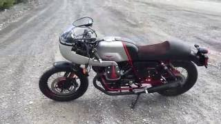 2016 Moto Guzzi V7II Racer with Agostini Pipes and Fairing