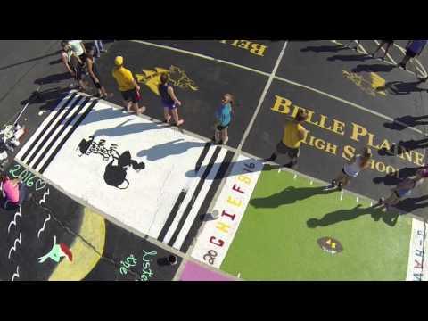 Belle Plaine High School USD 357 Parking Lot Painting