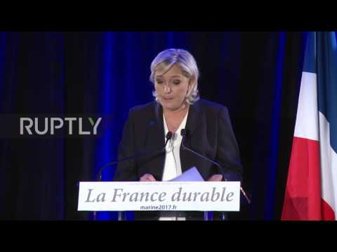 France: Le Pen touts protectionism against 'nomadic capital' and 'multiculturalism'