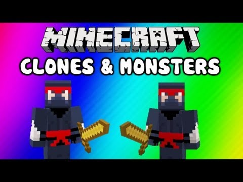 Minecraft Funny Moments - Clone Glitch, Monsters (EPIC Noob Adventures: Clones & Monsters) Travel Video