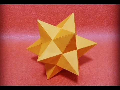 小星型十二面体を折ってみた ユニット折り紙