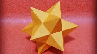 小星型十二面体を折ってみた 【ユニット折り紙】