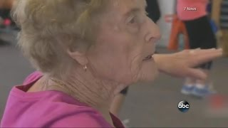 Great Grandmother Hits the Gym Ten Times a Week | ABC News