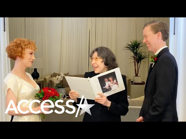Lily Tomlin Officiated Kathy Griffin\'s \'Atypical\' Wedding To Longtime Boyfriend Randy Bick
